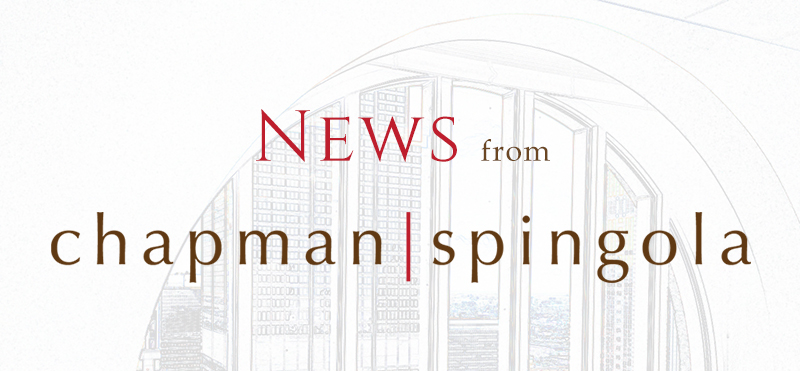 Chapman Spingola News