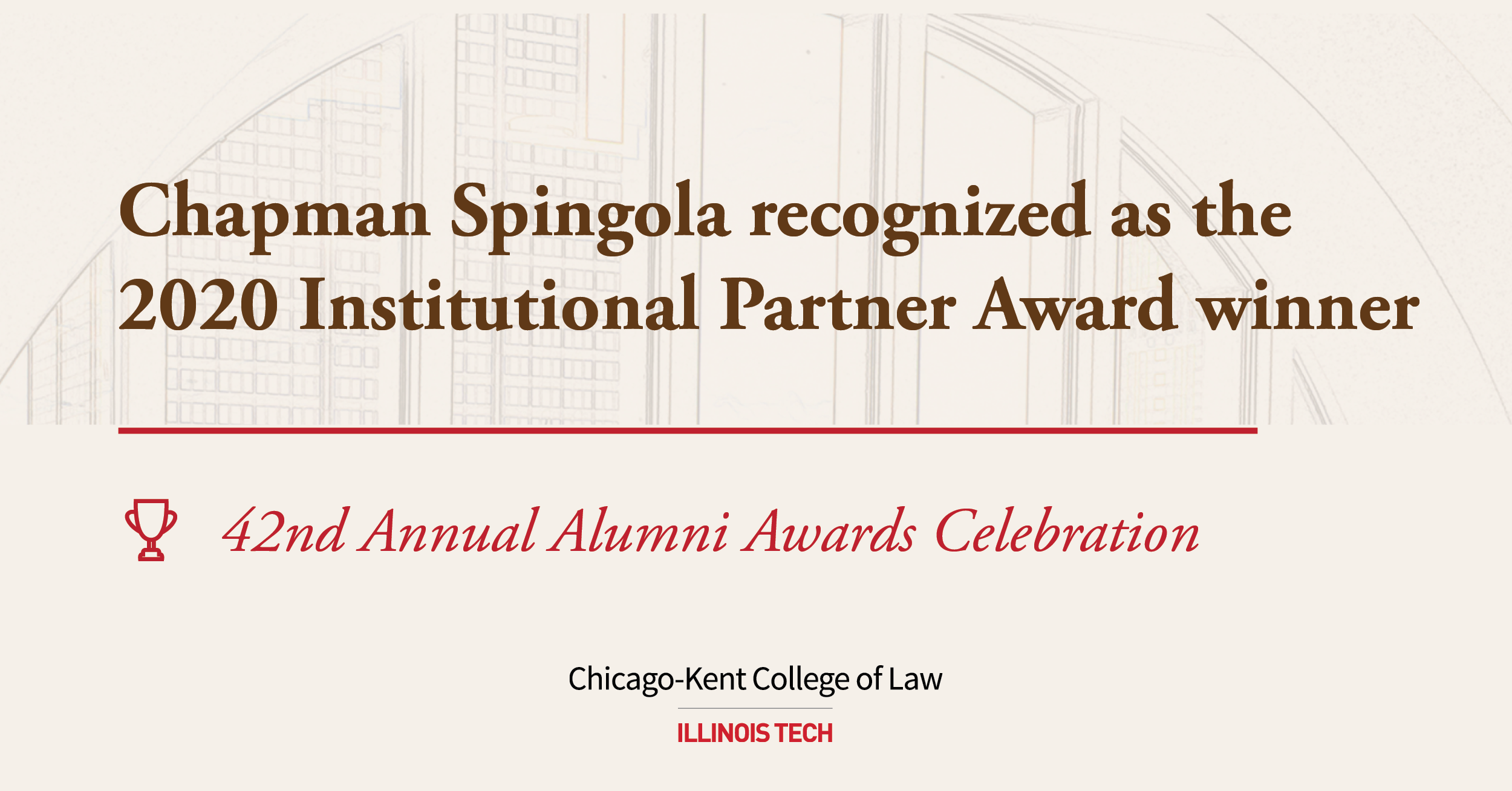 Chapman Spingola award